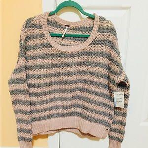 Free people striped sweater, nwt, xs.